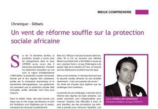Un vent de réforme souffle sur la protection sociale africaine