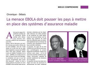 La menace d'EBOLA doit pousser les pays à mettre en place des systèmes d'assurance maladie