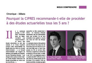 Why does CIPRES recommend conducting actuarial studies every 5 years ?
