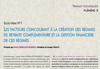 Factors contributing to the creation of the supplementary pension plans and the financial management of these plans