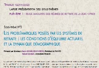 Actuarial equilibrium conditions and demographic dynamics