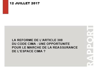 La réforme de l'article 308 du code CIMA : une opportunité pour le marché de la réassurance de l'espace CIMA ?