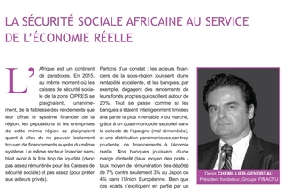 La sécurité sociale africaine au service de l'économie réelle (Le Courrier de la CIPRES, juillet 2017)